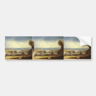 William Turner- View from the Terrace of a Villa Bumper Stickers
