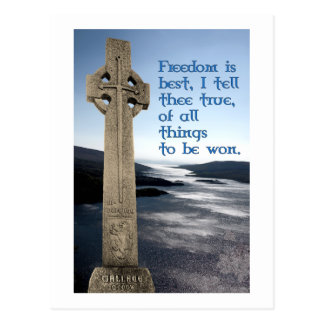 William Wallace Scottish Freedom Postcard