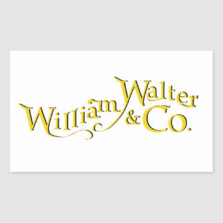 William Walter and Co. Sticker