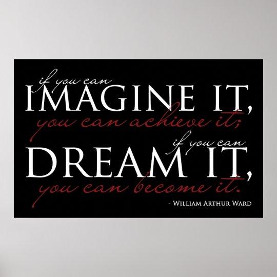 William Ward Imagine Quote Poster