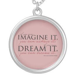 William Ward Imagine Quote Silver Plated Necklace