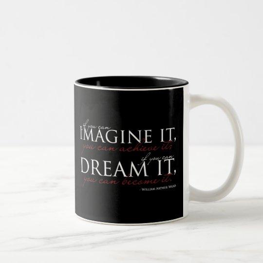 William Ward Imagine Quote Two-Tone Coffee Mug