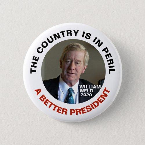 William Weld A Better President Button