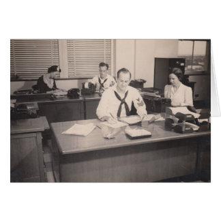 William Whitten Crosland, Naval Office, 1941 Card