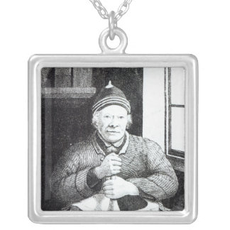 William Wilson, commonly called Mortar Willie Silver Plated Necklace