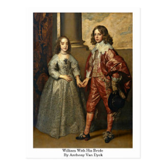 William With His Bride By Anthony Van Dyck Postcard