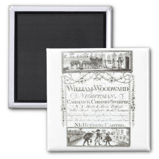 William Woodward, Nightman, Carman and Chimney Swe 2 Inch Square Magnet