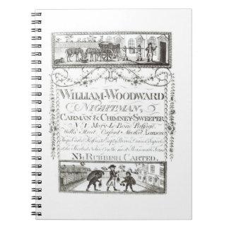 William Woodward, Nightman, Carman and Chimney Swe Notebook