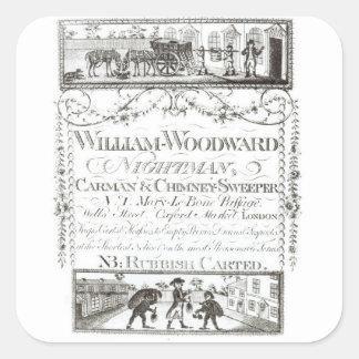 William Woodward, Nightman, Carman and Chimney Swe Square Sticker
