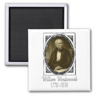 William Wordsworth 2 Inch Square Magnet