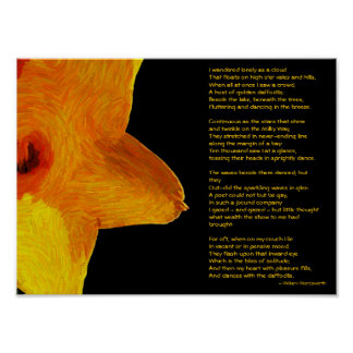 William Wordsworth Impressionist Daffodils Poster
