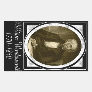 William Wordsworth Rectangular Pegatinas