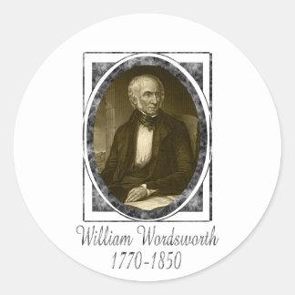 William Wordsworth Pegatinas Redondas