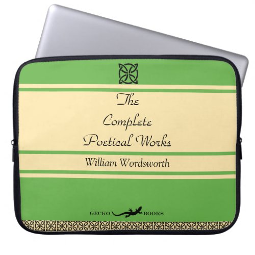 William Wordsworth Poems Retro Book Cover Laptop Sleeve