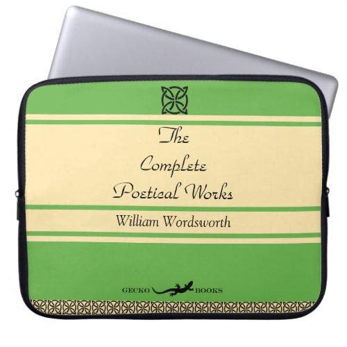 William Wordsworth Poems Retro Book Cover Laptop Sleeve
