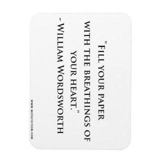 William Wordsworth Quote Magnet