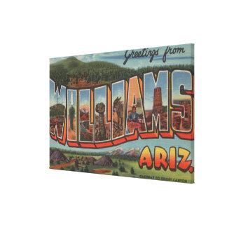 Williams, Arizona - Large Letter Scenes Canvas Print