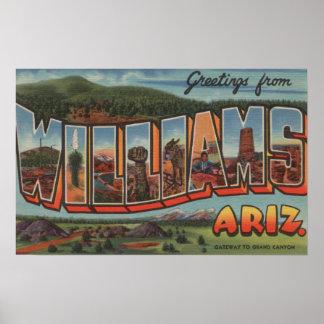 Williams, Arizona - Large Letter Scenes Poster