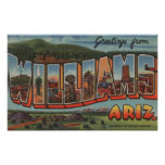 Williams, Arizona - Large Letter Scenes Posters