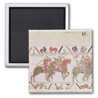 William's  army going to Mont Saint-Michel 2 Inch Square Magnet