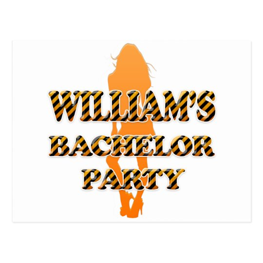 William's Bachelor Party Postcard