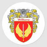 Williams Coat of Arms (Mantled) Classic Round Sticker