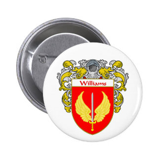 Williams Coat of Arms (Mantled) Pinback Button