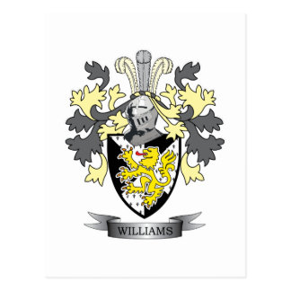 Williams Coat of Arms Postcard