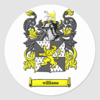 Williams Coat of Arms Round Sticker