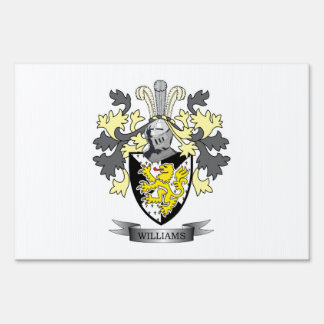 Williams Coat of Arms Yard Sign