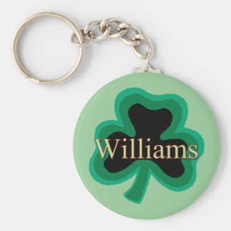 Williams Family Basic Round Button Keychain