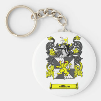 Williams Family Coat of Arms Basic Round Button Keychain