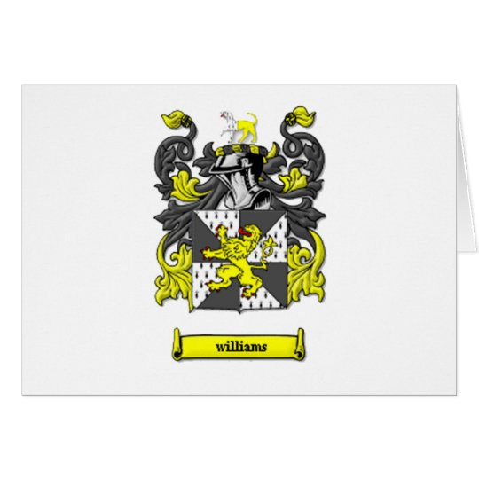 Williams Family Coat of Arms Card