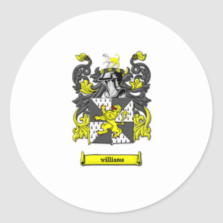 Williams Family Coat of Arms Classic Round Sticker