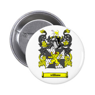 Williams Family Coat of Arms Pinback Button