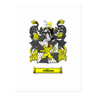 Williams Family Coat of Arms Postcard