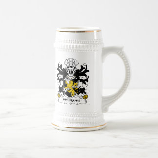 Williams Family Crest Beer Stein