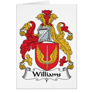 Williams Family Crest Card