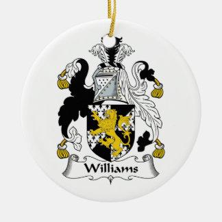 Williams Family Crest Ceramic Ornament