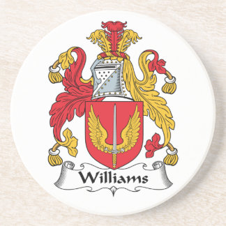Williams Family Crest Drink Coasters