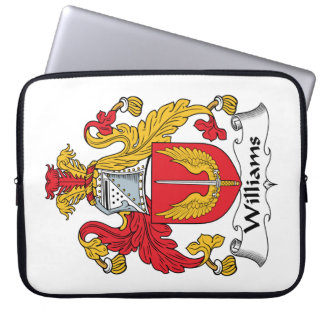Williams Family Crest Laptop Computer Sleeve