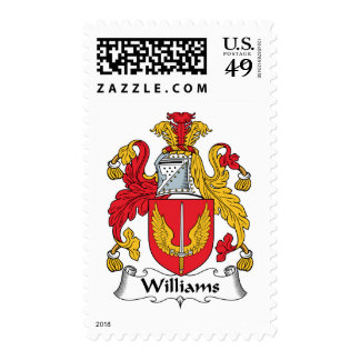 Williams Family Crest Postage Stamps