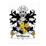 Williams Family Crest Postcards