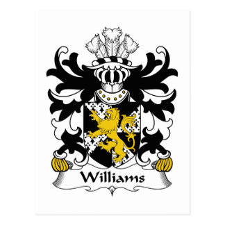 Williams Family Crest Postcards