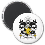 Williams Family Crest Refrigerator Magnets