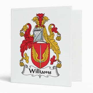 Williams Family Crest Vinyl Binders