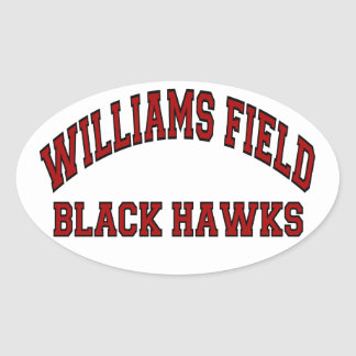 Williams Field Black Hawks Oval Sticker