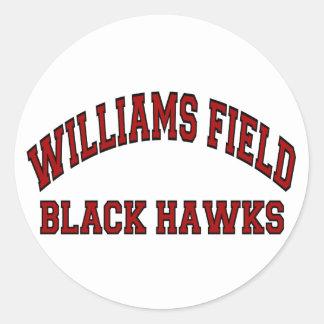 Williams Field Black Hawks Classic Round Sticker