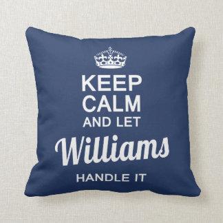 Williams handle it throw pillow
