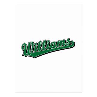 Williams in Green Postcard